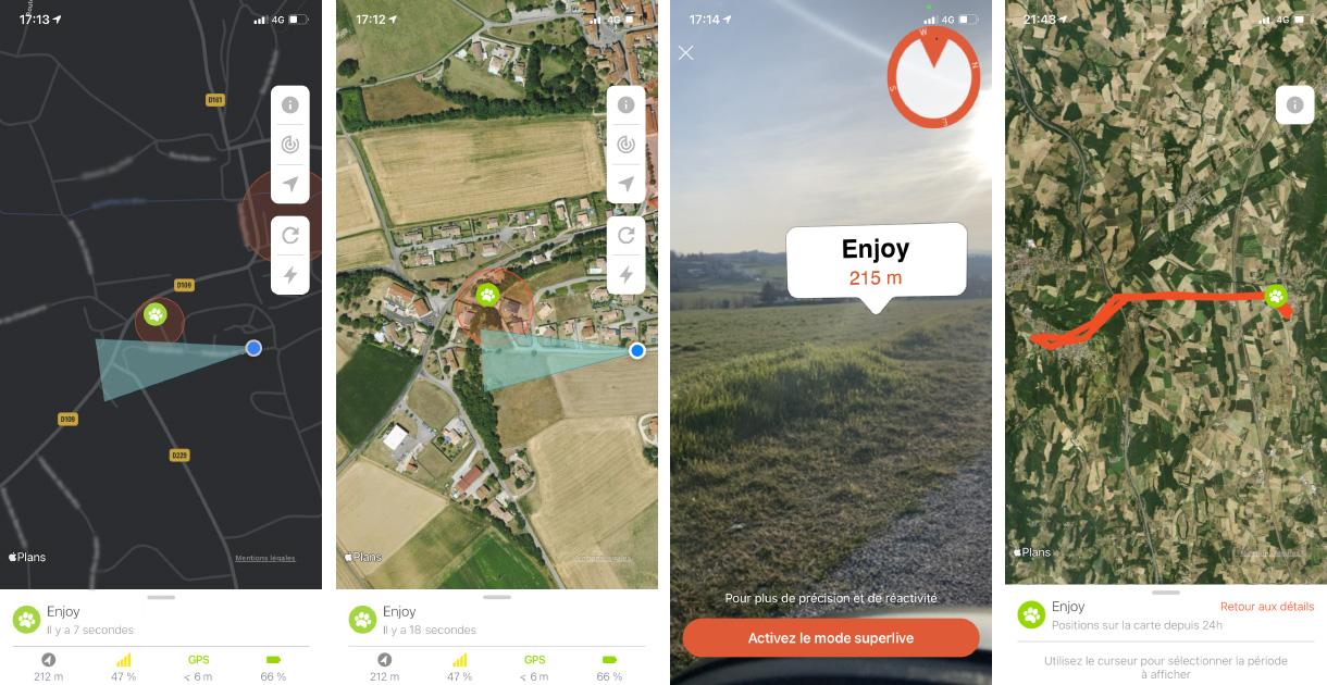 Suivre le déplacement des animaux de compagnie sur Android et iOS
